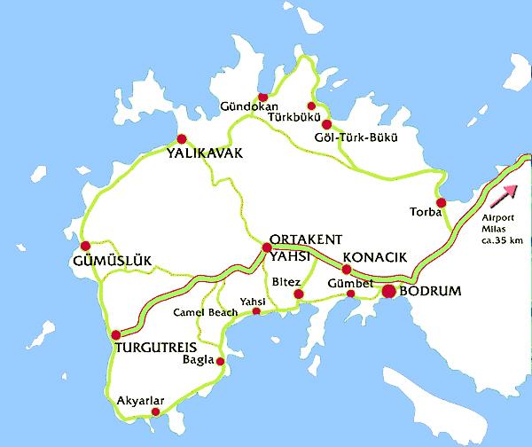 bodrum harita