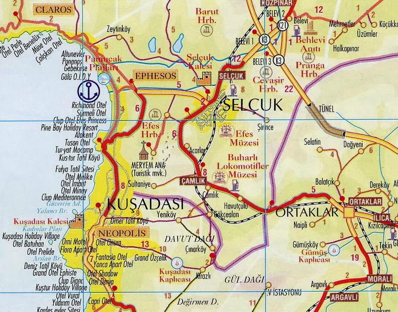 Efes Haritası Tatil Rehberi Tatilpanosunet