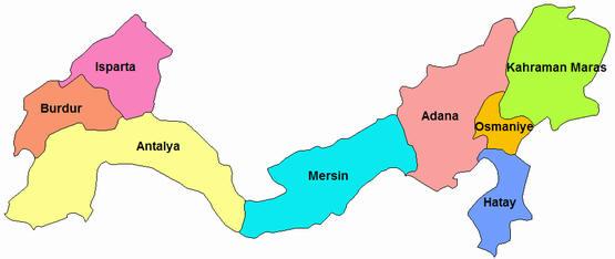 Akdeniz Bölgesinde Yer Alan İller Şehirler ile ilgili görsel sonucu